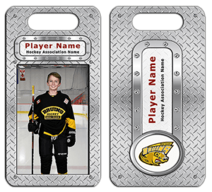 hockey bag tag merch